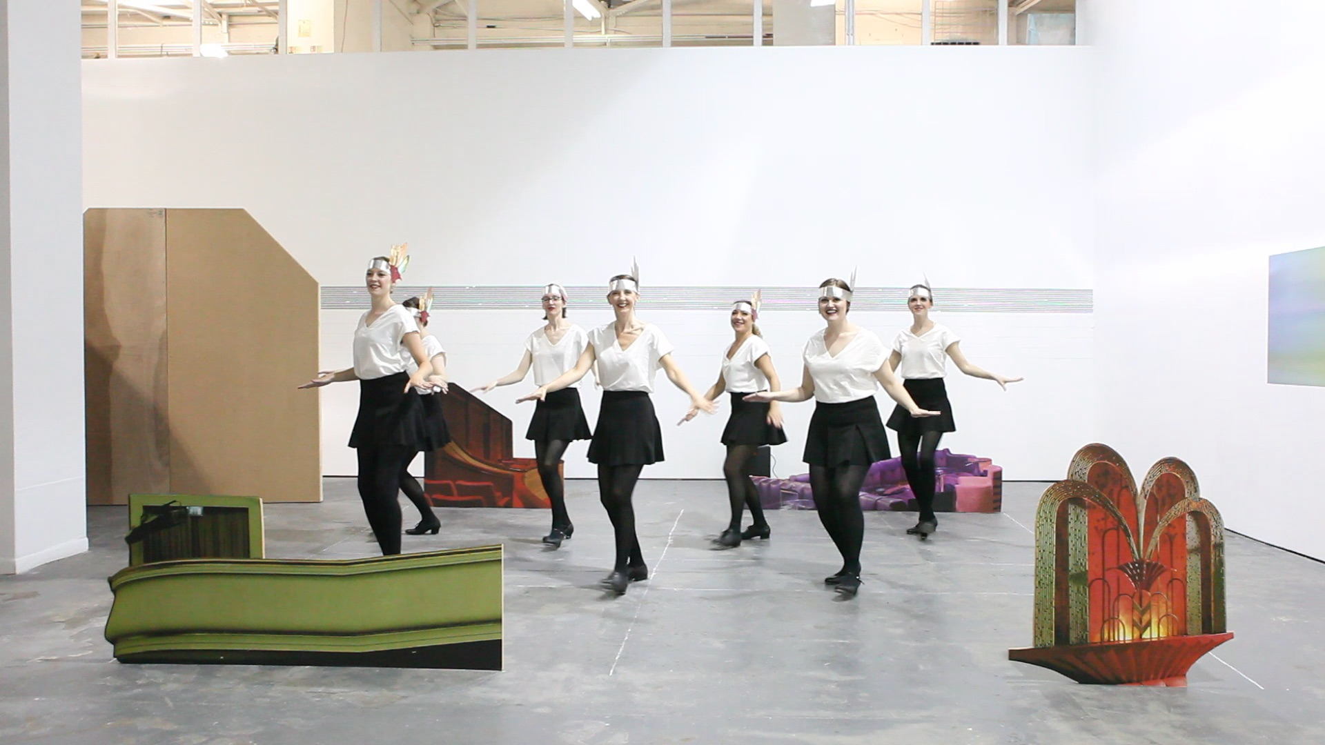 Tap Performance For Gallery with Many Dancers